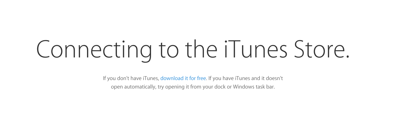 Connecting to iTunes