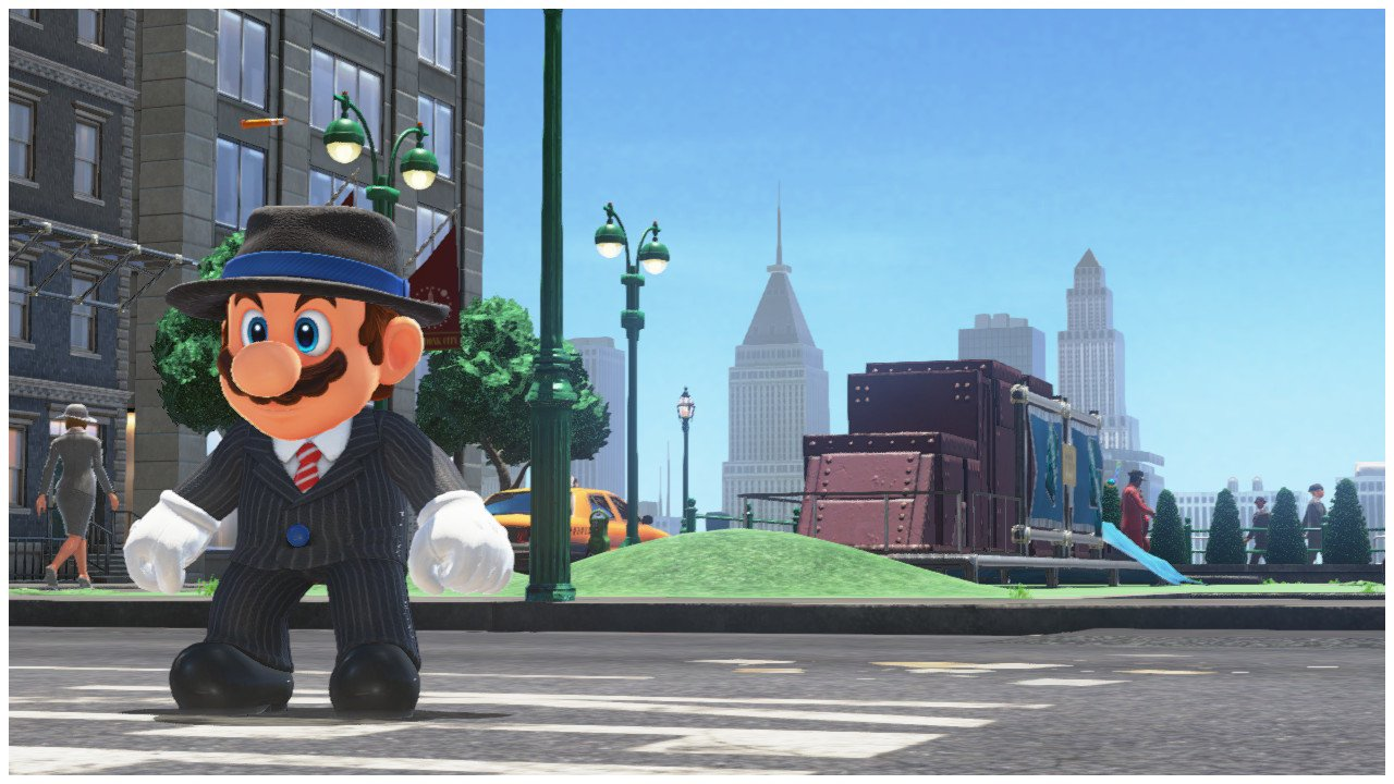 Mario in a suit