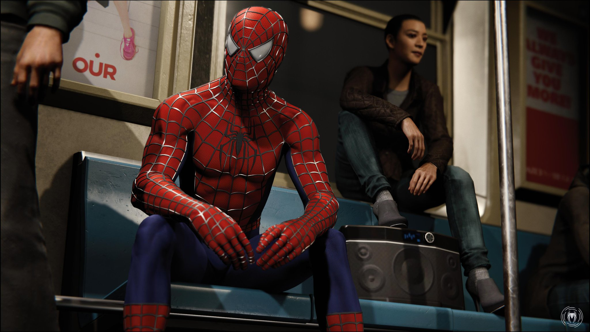 Raimi suit on the subway